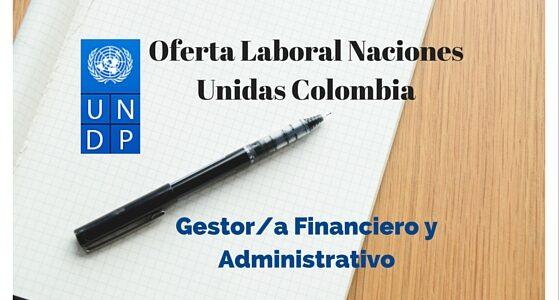 Oferta Laboral en PNUD de Gestor/a Financiero y Administrativo