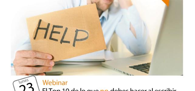 Webinar para latinoamerica el 23 de Noviembre: El top 10 de lo que no debes hacer al escribir un ensayo para aplicar a la universidad
