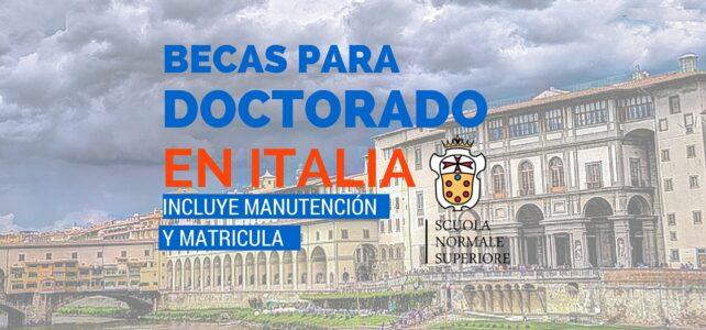 Becas para la Escuela Normal Superior de Italia
