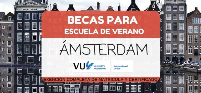 Becas para cursos de verano en Ámsterdam-Holanda