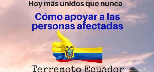 Ayudas terremoto Ecuador