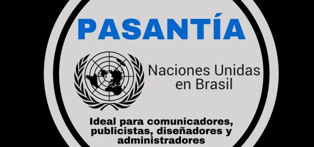 Pasantía en Brasil con Naciones Unidas