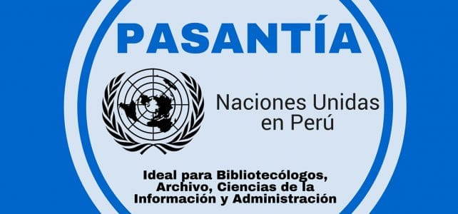 Pasantía con el PNUD en Perú