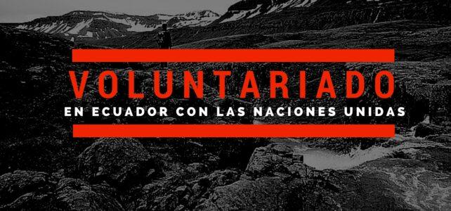 Voluntariado en Ecuador con la ONU