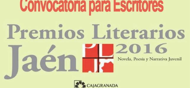 Convocatoria Premios Literarios Jaén – Para escritores del mundo