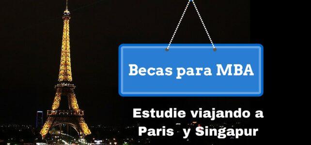 Becas para Maestría en Administración de Empresas (MBA) viajando a Paris y Singapur