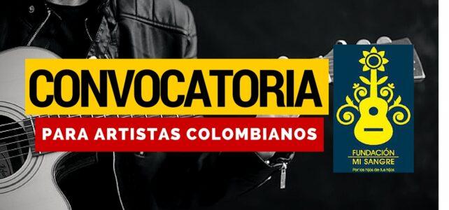 Convocatoria para artistas Fundación Mi Sangre (Juanes)-Desarrolla tu propuesta con todos los gastos pagos
