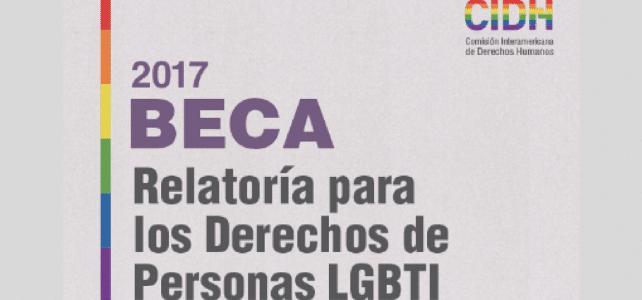Becas para relatoría sobre los derechos de la comunidad LGBTI