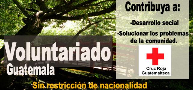 Contribuya como voluntario en la Cruz Roja Guatemalteca