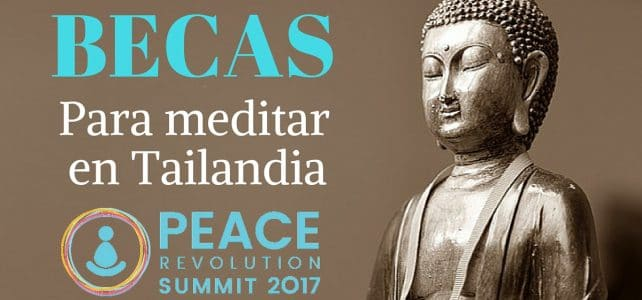 Becas para meditar en Tailandia Peace Revolution Summit 2017