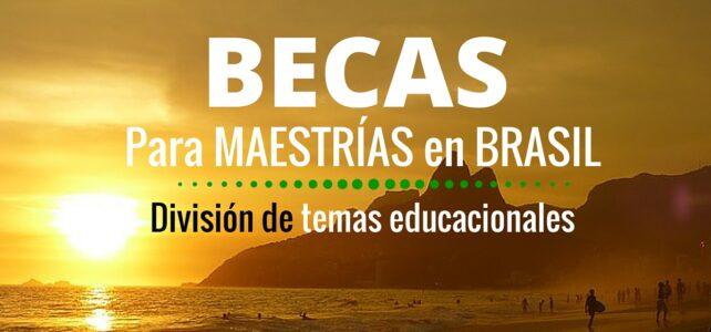 Becas para Maestría en Brasil