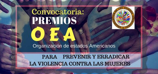 Convocatoria Premios OEA para prevenir y erradicar la violencia contra las mujeres