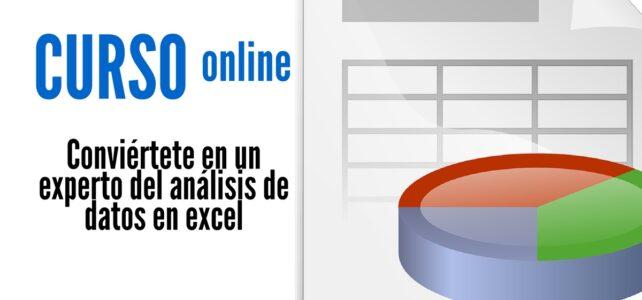 Curso online para ser un experto en el análisis de datos en excel