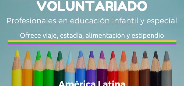 Voluntariado para profesionales en educación preescolar, infantil o especial – todos los gastos cubiertos