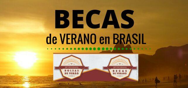 Becas de verano en Brasil – Para estudiantes Universitarios
