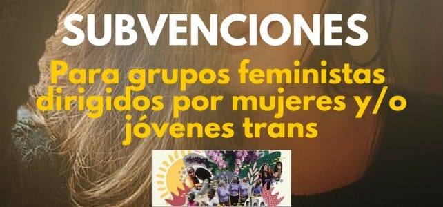 Convocatoria de financiamiento internacional para grupos feministas