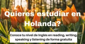 Conoce tu nivel de inglés de forma gratuita para estudiar en Holanda