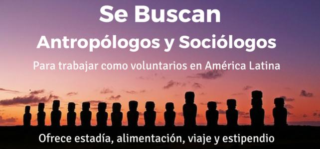 Se buscan antropólogos y sociólogos