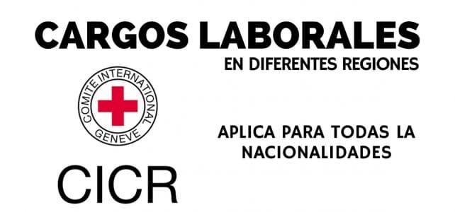 Convocatorias con el Comité internacional de la Cruz Roja – CICR