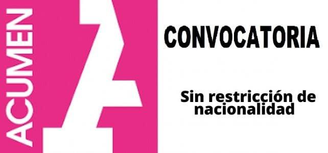 Convocatoria internacional con Acumen