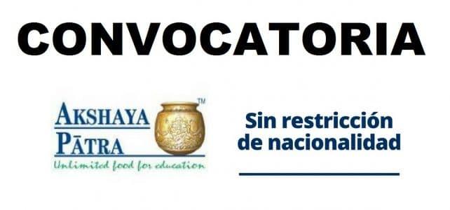 Convocatorias con la organización internacional Fundación Akshaya Patra
