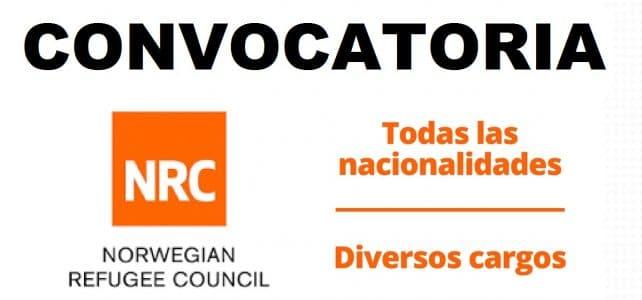 Diferentes convocatorias NRC Consejo Noruego para los Refugiados