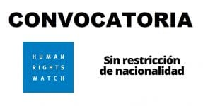 Convocatoria internacional con Human Rights Watch