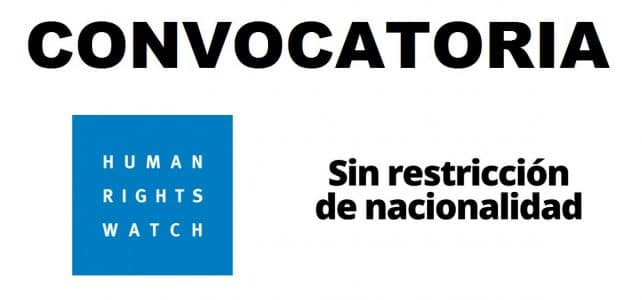 Convocatoria internacional con Human Rights Watch