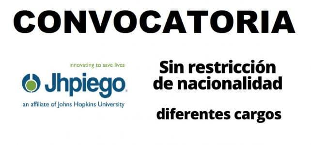 Convocatoria internacional con la organización Jhpiego