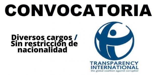 Convocatoria internacional con Transparencia Internacional