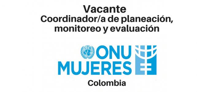 Vacante coordinador(a) de planeación, monitoreo y evaluación ONU Mujeres