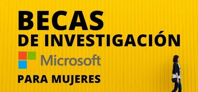 Becas de investigación Microsoft para mujeres