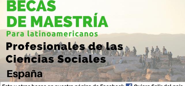 Becas de maestría en Ciencias Sociales en España