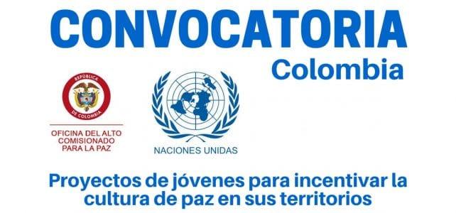 Convocatoria en Colombia para jóvenes constructores de paz en las regiones