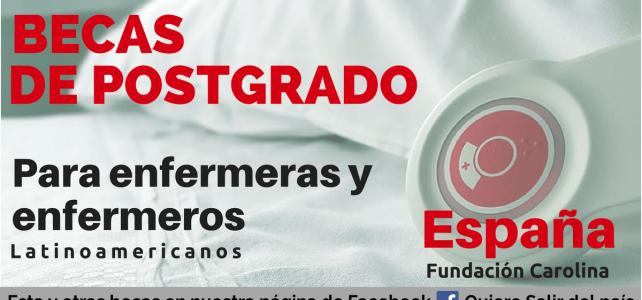 Becas para enfermeras, enfermeros y profesionales en salud en España