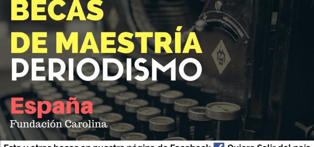Becas para periodistas en España