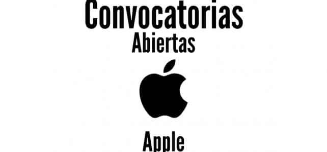 Convocatoria para trabajar con Apple – Varias posiciones y regiones