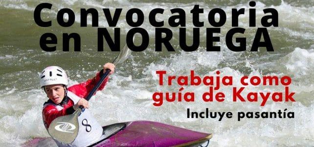 Convocatoria para trabajar como guía de Kayak en Noruega