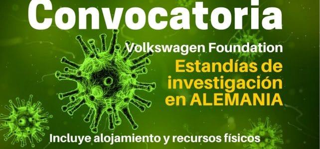 Convocatoria de la Foundation Volkswagen para estancias de investigación en Alemania.