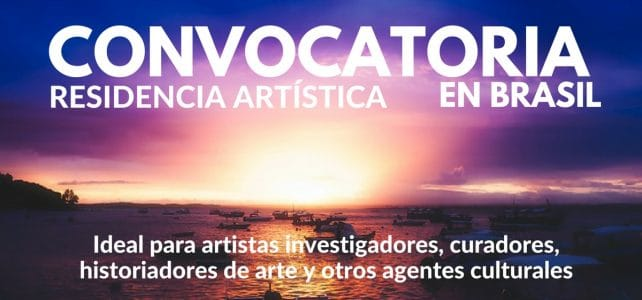Convocatoria para residencia artística en Sao Paulo – Brasil