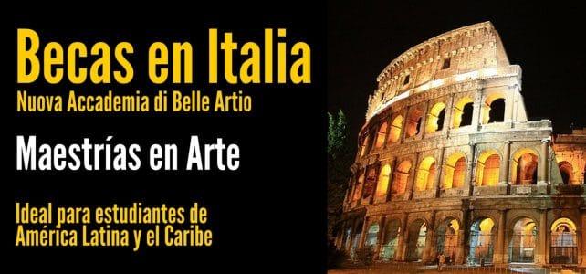 Becas en Italia para maestrías en artes para Latinoamericanos