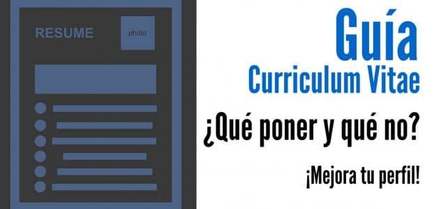 Mejora tu curriculum aprendiendo qué poner y qué no