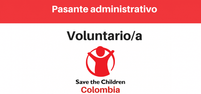 Voluntariado o pasante con Save the Children