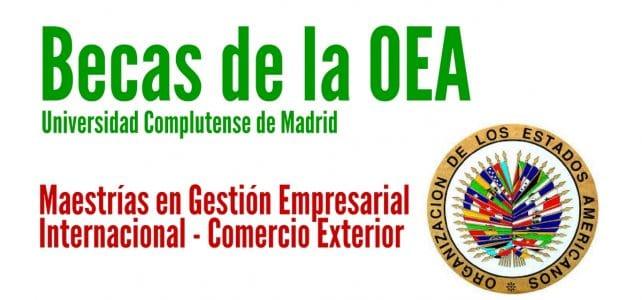 Becas OEA para cursar maestrías en Madrid (España)