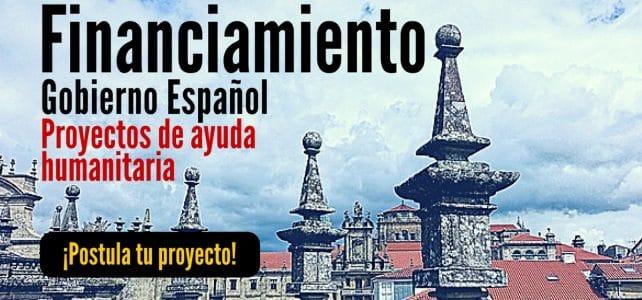 Financiamiento del Gobierno Español a proyectos de ayuda humanitaria. Ideal para América Latina y el Caribe