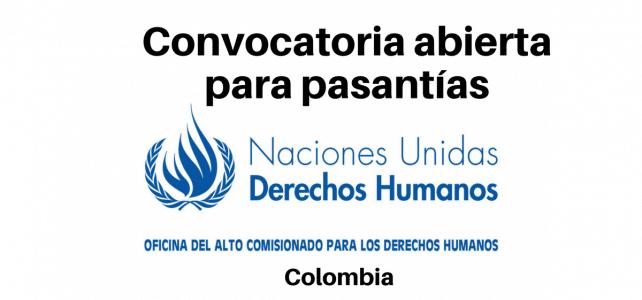 Convocatoria abierta para pasantías Naciones Unidas Derechos Humanos