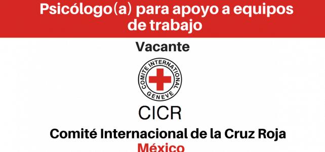 Convocatoria para profesionales de psicología en el CICR