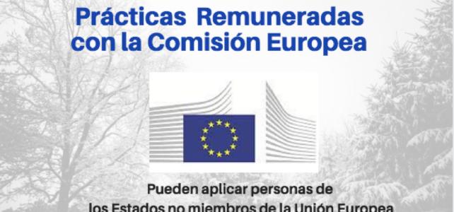 Convocatoria: Pasantías y prácticas Remuneradas con la Comisión Europea