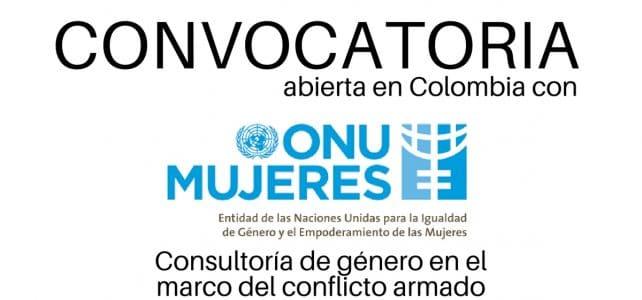 Convocatoria para consultoría en asuntos de género en el marco del conflicto armado