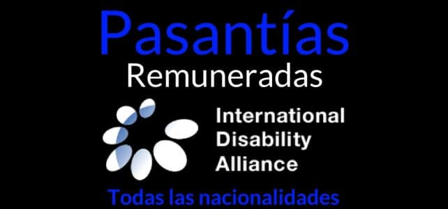 Pasantías remuneradas con la alianza International Disability